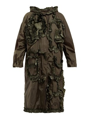 4 Moncler Simone Rocha ruffled technical-sateen rain jacket
