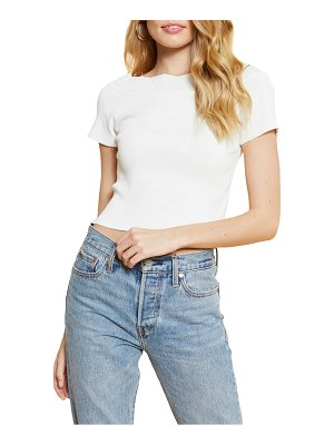 4SI3NNA alex scalloped neck crop top