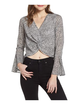 4SI3NNA bell sleeve knot front top