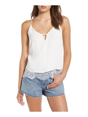 4SI3NNA lace-up back camisole top