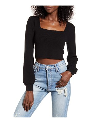 4SI3NNA lina square neck crop sweater