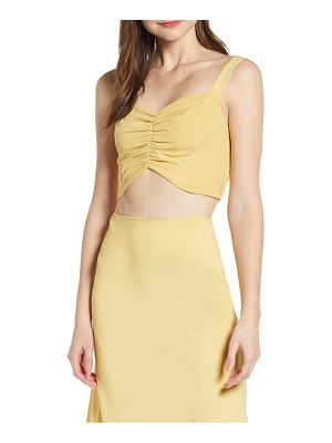 4SI3NNA ruched crop top