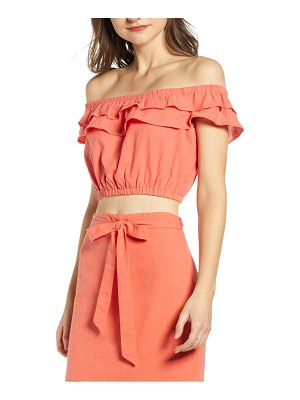 4SI3NNA ruffle off the shoulder top