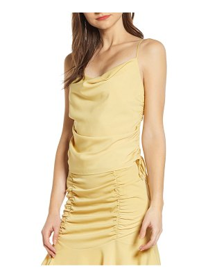 4SI3NNA side ruched sleeveless top