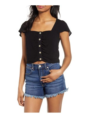 4SI3NNA square neck crop top