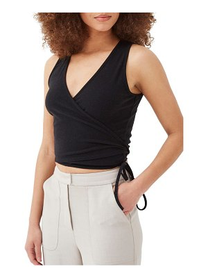 4th & Reckless anika ribbed wrap front sleeveless top