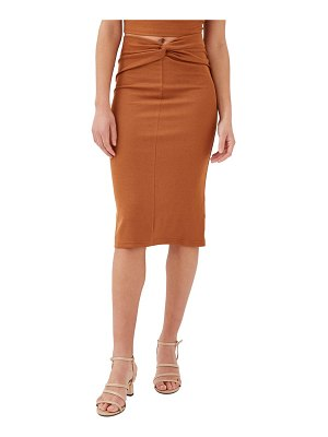 4th & Reckless conna knit pencil skirt