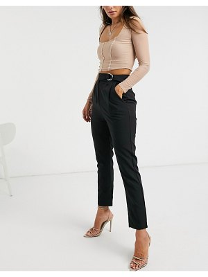 4th + Reckless suit pants with side buckle in black