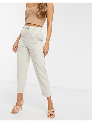 4th + Reckless tailored suit pants in cream