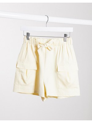 4th + Reckless tailored utility short in cream