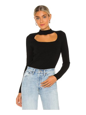 525 America cut out mock neck top