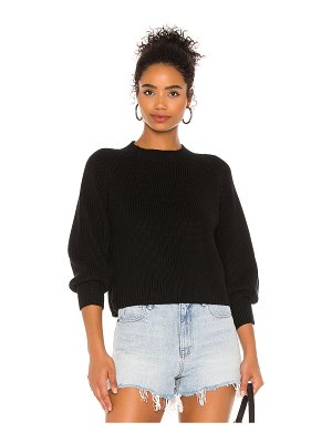 525 balloon sleeve cropped sweater
