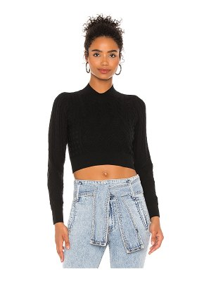 525 cable crop pullover