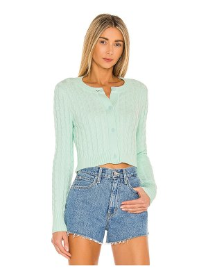 525 cropped cable cardigan