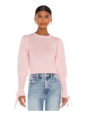 525 cropped tie sleeve pullover sweater