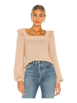 525 ruffle cable pullover sweater