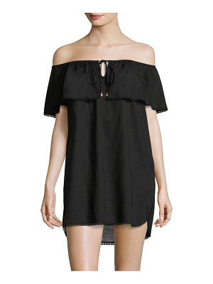 6 SHORE ROAD Off-The-Shoulder Ruffle Coverup
