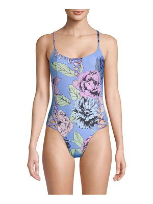6 SHORE ROAD waterfall floral one-piece