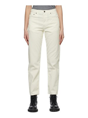 6397 off-white corduroy easy-fit trousers