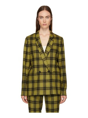6397 Plaid Double-Breasted Blazer