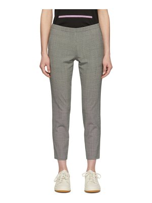 6397 & White Houndstooth Pull-On Trousers