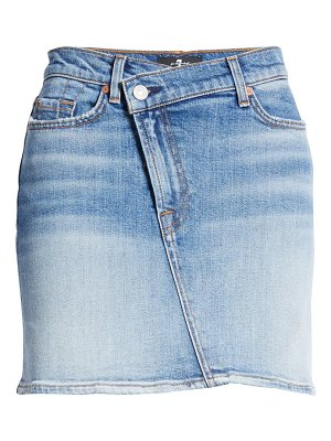 7 For All Mankind 7 for all mankind asymmetrical denim skirt