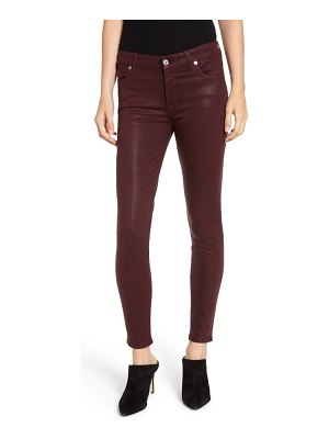 7 For All Mankind 7 for all mankind coated ankle skinny jeans