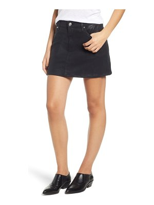 7 For All Mankind 7 for all mankind coated denim miniskirt