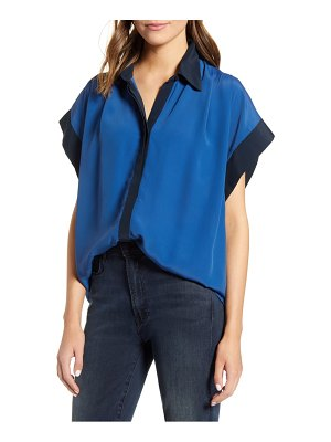 7 For All Mankind 7 for all mankind colorblock cuff top