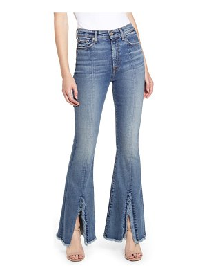 7 For All Mankind 7 for all mankind exaggerated kick fray hem jeans