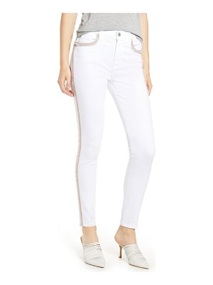 7 For All Mankind 7 for all mankind fringe high waist ankle skinny jeans