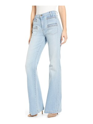 7 For All Mankind 7 for all mankind georgia braided welt high waist flare jeans