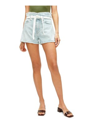 7 For All Mankind 7 for all mankind paperbag waist denim shorts