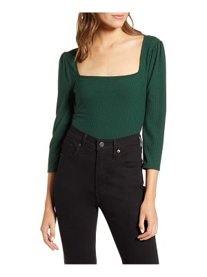 7 For All Mankind 7 for all mankind ribbed square neck top