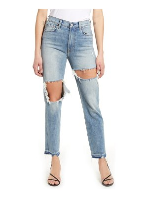 7 For All Mankind 7 for all mankind ripped high waist ankle straight leg jeans