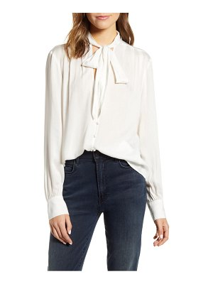 7 For All Mankind 7 for all mankind tie neck blouse
