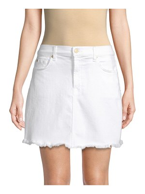 7 For All Mankind A-Line Mini Skirt