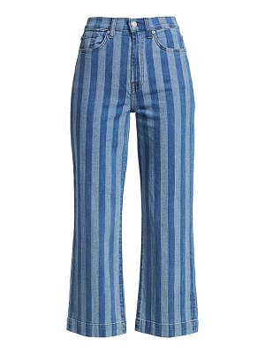 7 For All Mankind alexa pinstripe cropped jeans