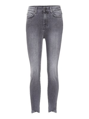 7 For All Mankind Aubrey Slim Illusion high-rise skinny jeans