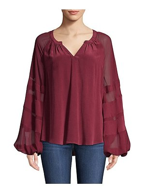 7 For All Mankind blouson sleeve silk blouse