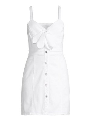 7 For All Mankind bow-front sleeveless denim dress