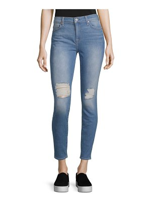 7 For All Mankind Classic Distressed Ankle Jeans