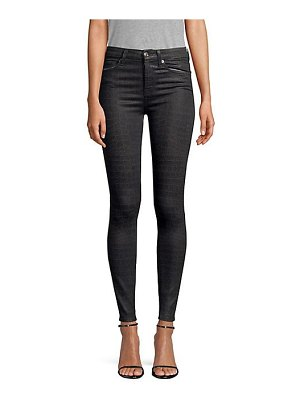 7 For All Mankind coated croc ankle skinny jeans