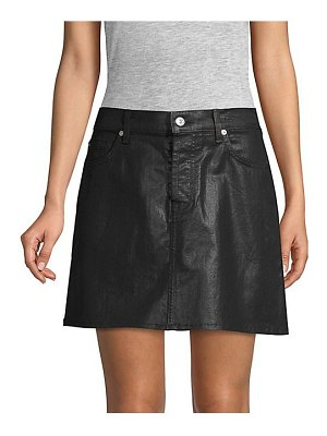 7 For All Mankind coated denim mini skirt