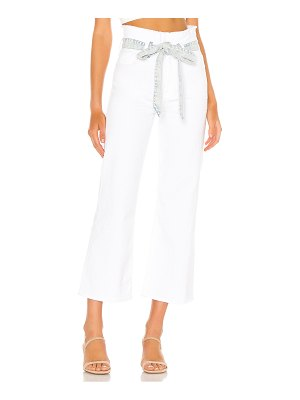 7 For All Mankind crop alexa paperbag flare. - size 24 (also