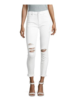 7 For All Mankind Distressed Ankle Jeans