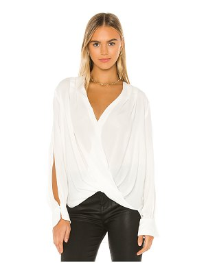 7 For All Mankind drape front v neck top
