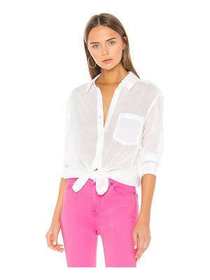 7 For All Mankind high low tie shirt