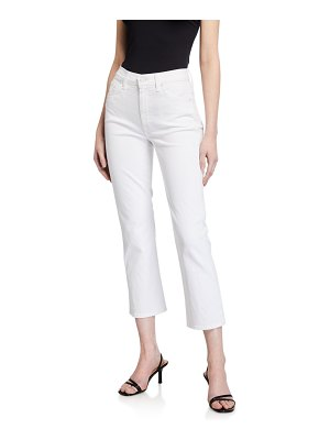 7 For All Mankind High-Rise Cropped Straight-Leg Jeans