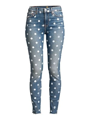 7 For All Mankind high-rise dot stamp skinny jeans